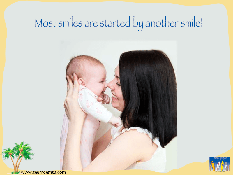 smile started by another smile