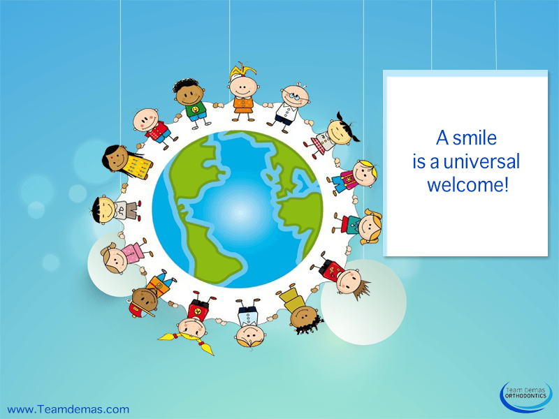 A smile is a universal welcome!
