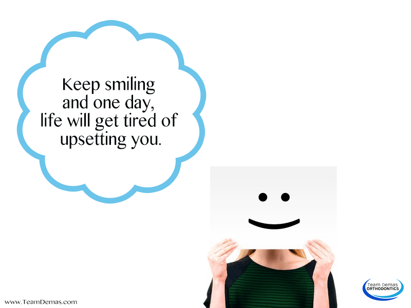 Keep Smiling Even If You're Upset