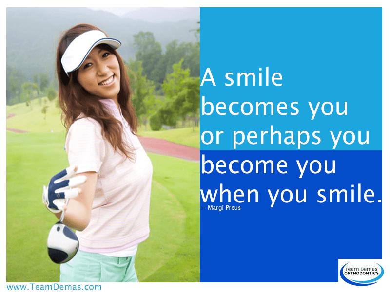 A Smile Becomes you or Perhaps you Become you when you Smile-Margi Preus