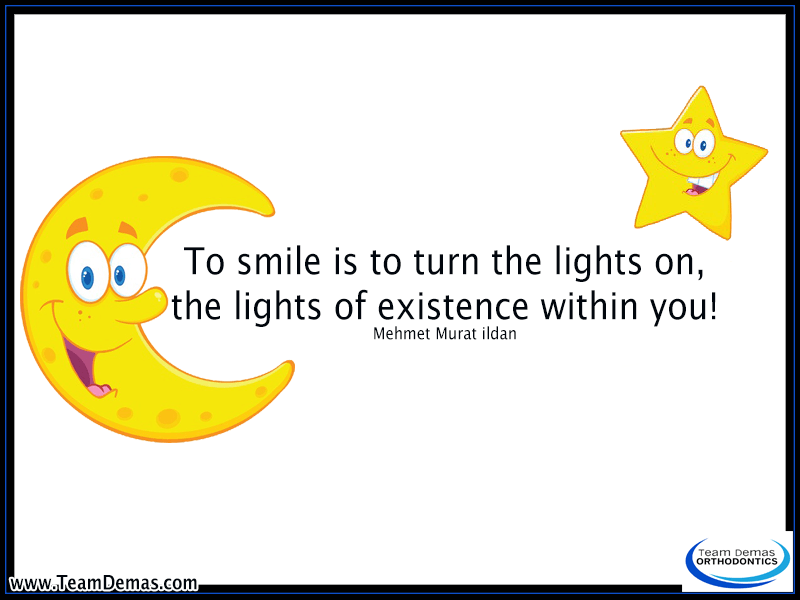 smiling turns the lights on