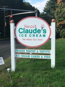Sweet Claudes sign